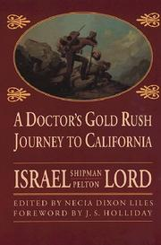 Cover of: A doctor's gold rush journey to California