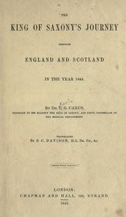 Cover of: The King of Saxony's journey through England and Scotland in the year 1844