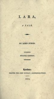 Cover of: Lara: a tale. Jacqueline : a tale