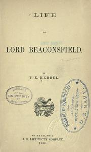 Cover of: Life of Lord Beaconsfield
