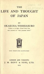 Cover of: The life and thought of Japan