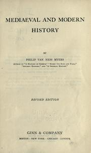 Cover of: Mediaeval and modern history | P. V. N. Myers