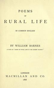 Cover of: Poems of rural life in common English