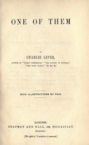 Cover of: One of them | Charles James Lever