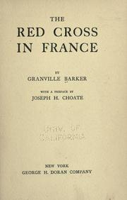 Cover of: The Red Cross in France