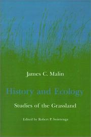 Cover of: History and Ecology | James C. Malin