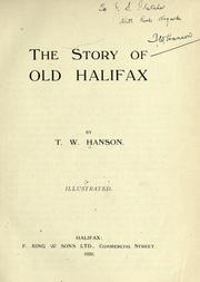 Cover of: The story of old Halifax