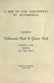 Cover of: A trip to the Northwest by automobile | Henry Klussman