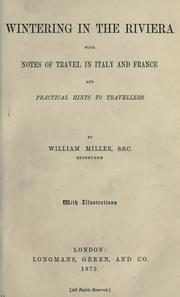 Cover of: Wintering in the Riviera | Miller, William of Edinburgh.