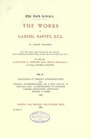 Cover of: The works of Gabriel Harvey