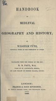 Cover of: Handbook of mediaeval geography and history. | Wilhelm Pütz