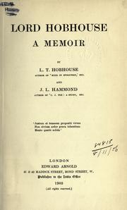 Cover of: Lord Hobhouse