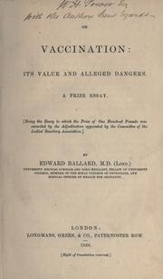 Cover of: On vaccination | Ballard, Edward