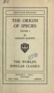 Cover of: The  Origin of Species | Charles Darwin