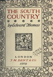 Cover of: The south country