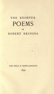 Cover of: The shorter poems of Robert Bridges