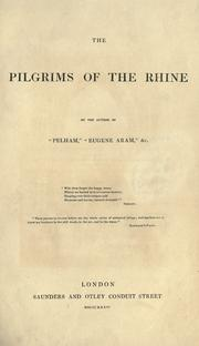 Cover of: The pilgrims of the Rhine