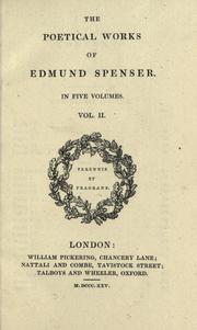Cover of: The poetical works of Edmund Spenser in five volumes