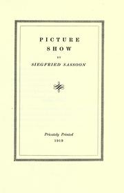 Cover of: Picture-show