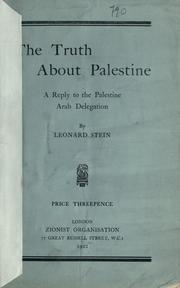 Cover of: The truth about Palestine | Leonard Stein