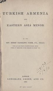 Cover of: Turkish Armenia and eastern Asia Minor