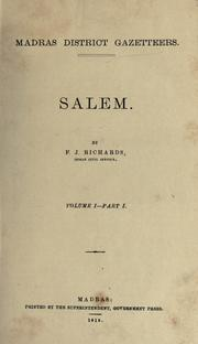 Cover of: Salem by F. J. Richards