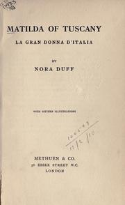 Cover of: Matilda of Tuscany by Nora Duff
