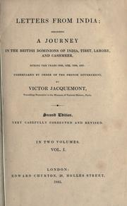 Letters from India by Victor Jacquemont