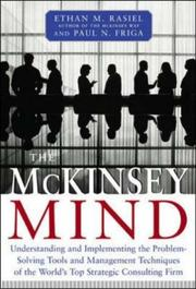 Cover of: The McKinsey Mind | Ethan M. Rasiel