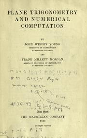 Cover of: Plane trigonometry and numerical computation