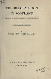 Cover of: Reformation in Scotland | Fleming, David Hay