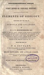Cover of: Elements of geology
