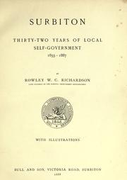 Cover of: Surbiton | Rowley W. C. Richardson