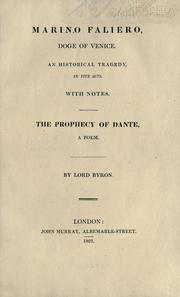 Cover of: Marino Faliero, Doge of Venice by Lord George Gordon Byron