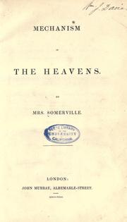 Cover of: Mechanism of the heavens