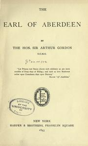 Cover of: The Earl of Aberdeen