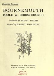 Bournemouth, Poole & Christchurch by Sidney Heath