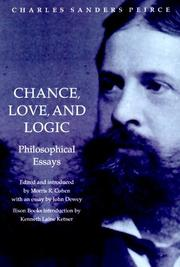 Cover of: Chance, Love, and Logic