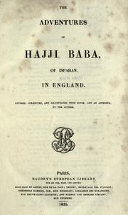 Cover of: The adventures of Hajji Baba, of Ispahan, in England
