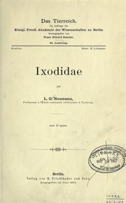 Ixodidae by Louis Georges Neumann