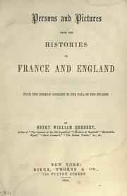 Cover of: Persons and pictures from the histories of France and England