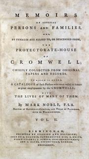 Cover of: Memoirs of the protectorate-house of Cromwell