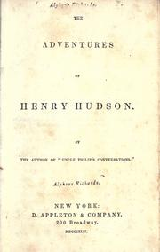 Cover of: adventures of Henry Hudson | Philip Uncle
