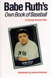 Cover of: Babe Ruth's own book of baseball
