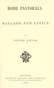 Cover of: Home pastorals, ballads and lyrics