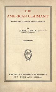 Cover of: The American claimant | Mark Twain