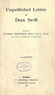 Cover of: Unpublished Letters Of Dean Swift