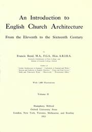 Cover of: An introduction to English church architecture