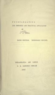 Cover of: Psychoanalysis
