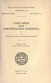 Cover of: Game birds from northwestern Venezuela